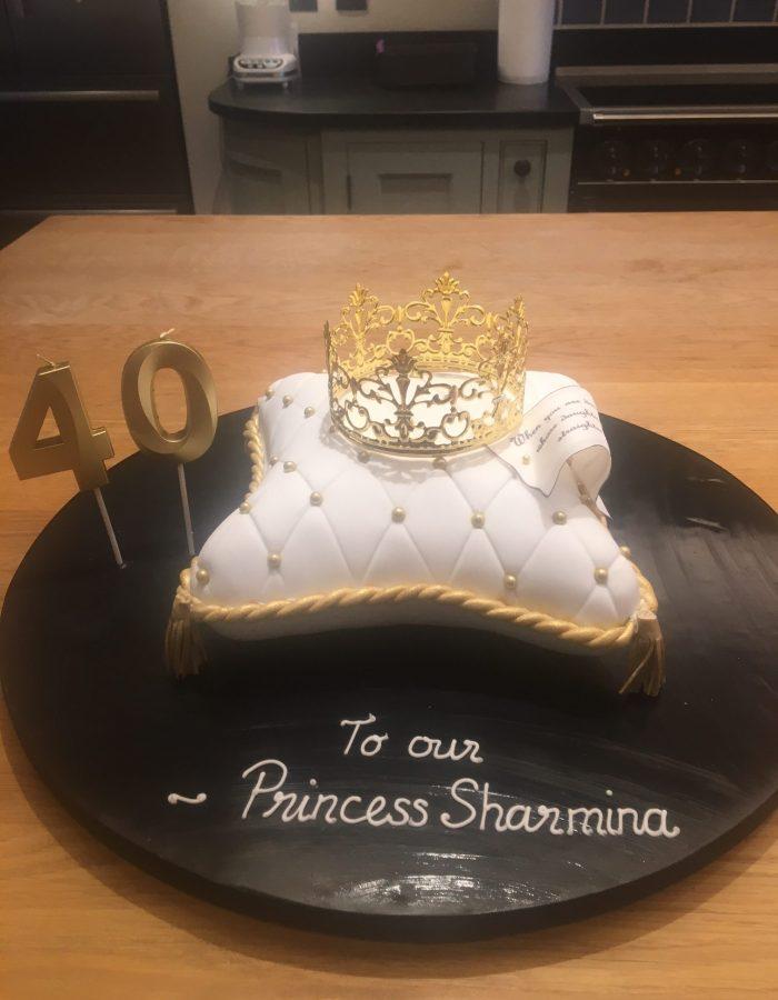 Princess pillow birthday cake